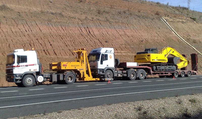 Grúas Garte transportes especiales Maquinaria-Industrial