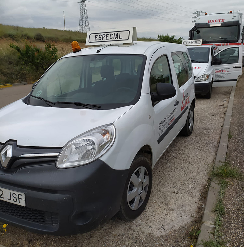 Grúas Garte transportes especiales