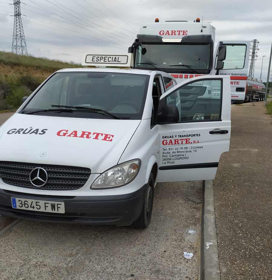 Transporte Especial Grúas Garte